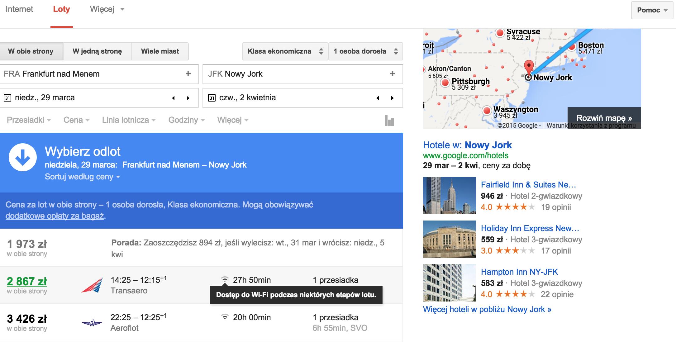 google-wyszukiwarka-lotow