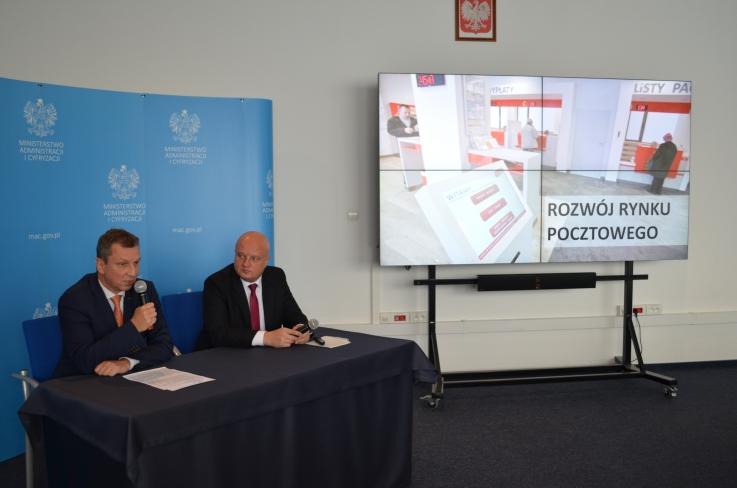 Zdjęcie z Konferencji prasowa ministra Andrzeja Halickiego