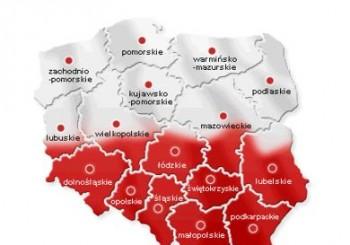 mapa polski wybory 2015