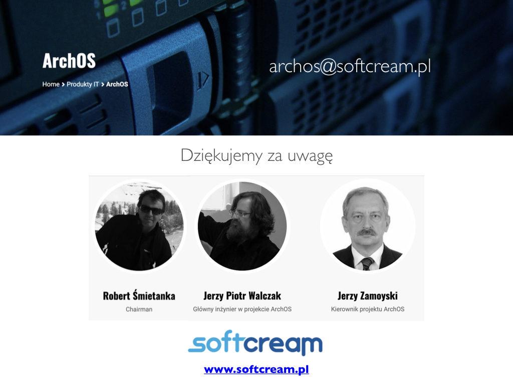 Prezentacja produktu ArchOSx EDM dla projektu eZdrowe. System operacyjny sieci danych, zasobniki REPO klasy Enterprise oraz SOHO